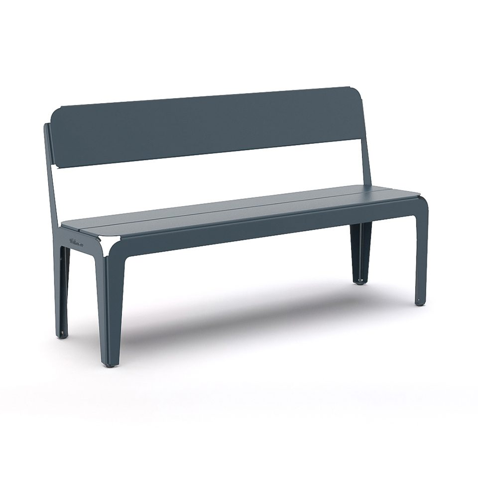Weltevree Bended Bench Backrest Greyblue Grijsblauw Bankje Rugleuning Outdoor Living