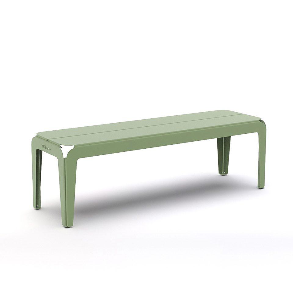 Weltevree Bended Bench Palegreen Bankje Groen Outdoor Living Tuinbankje