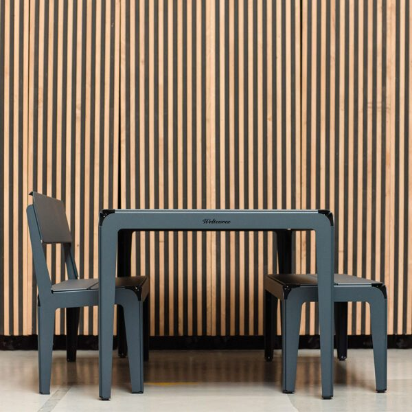 Weltevree Bended Series Grey Blue Tafel Bankje Stoel Outdoor Living Dutch Design Online