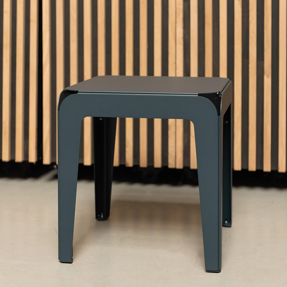 Bended Stool Grey Blue Krukje Grijs Outdoor Living Dutch Design Online