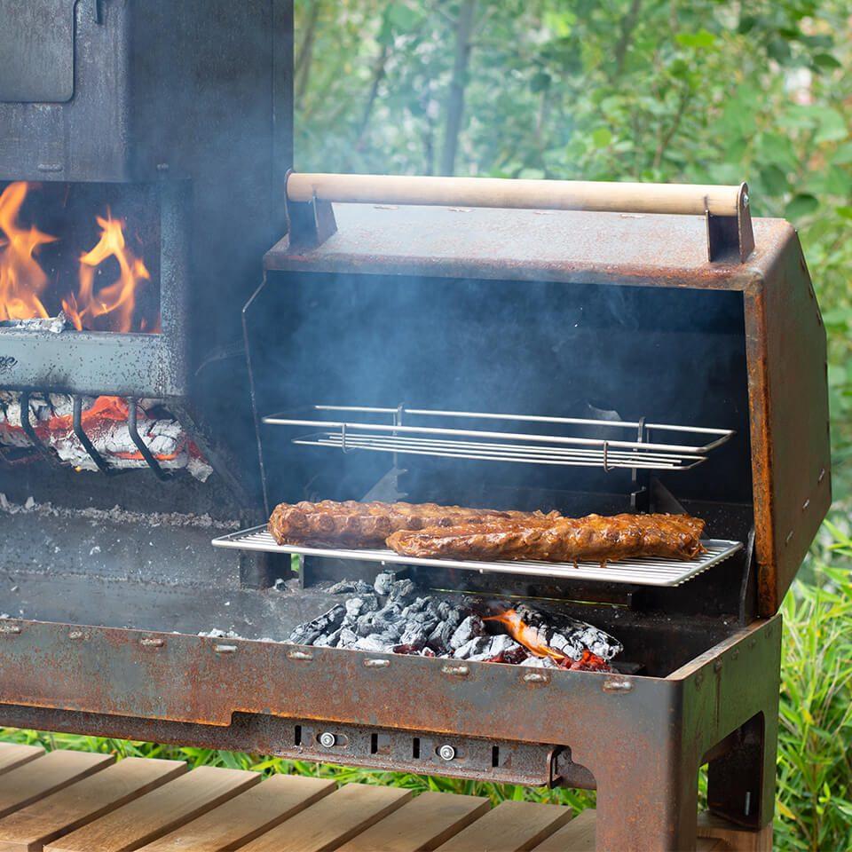 Outdooroven XL Grill Detail Buitenkeuken Cortenstaal