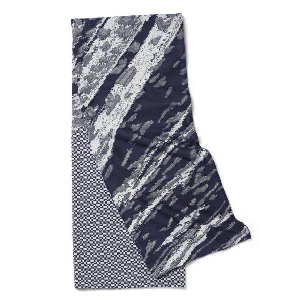 Roos Soetekouw Skinn Cotton Shimmering Blue Plaid Deken Thrown Dutch Design Online