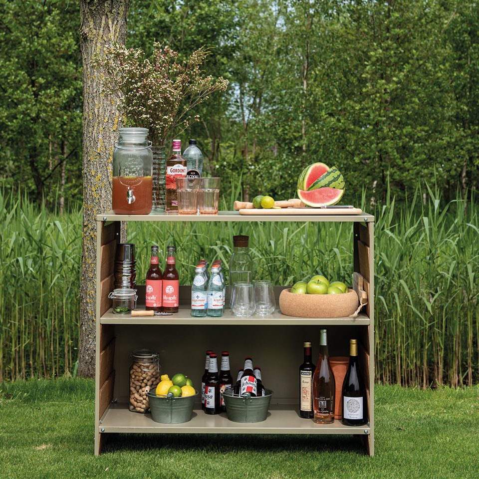 Weltevree Rabat Shelving Low Outdoor Bar