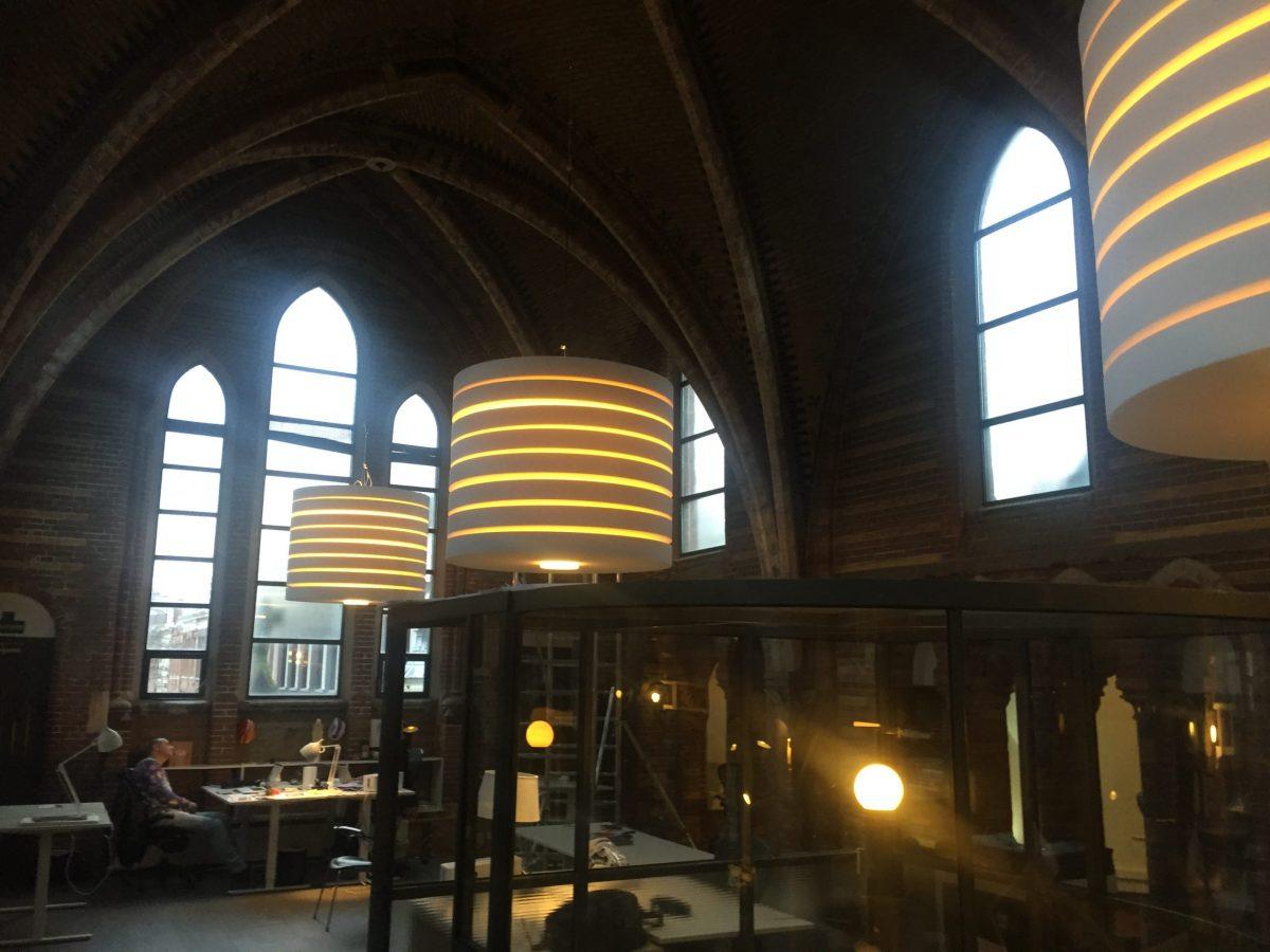 Akoestische Verlichting Round Round Dutch Design Lamp Rond Kantoor
