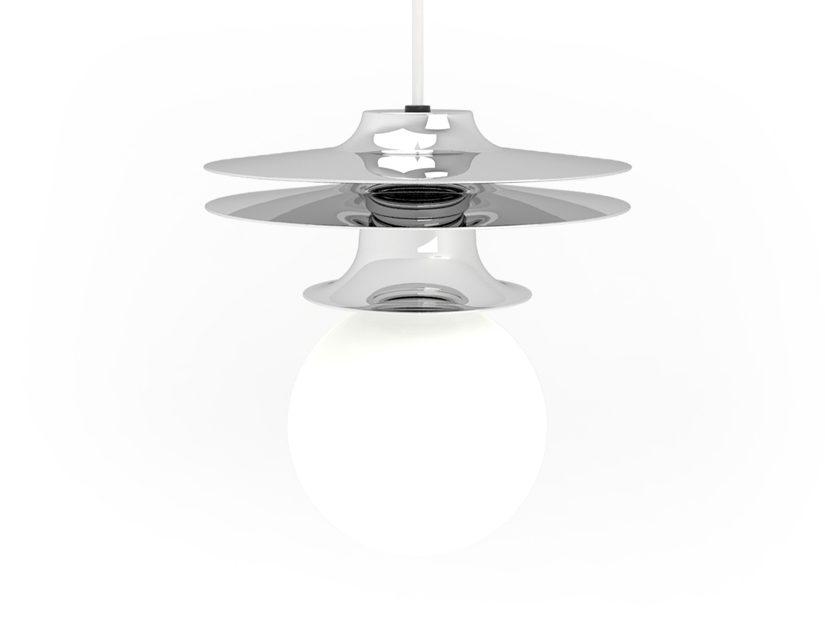 FIREFLY Tower Four Minimalistisch Hanglamp Chrome Roijé Design Dutch