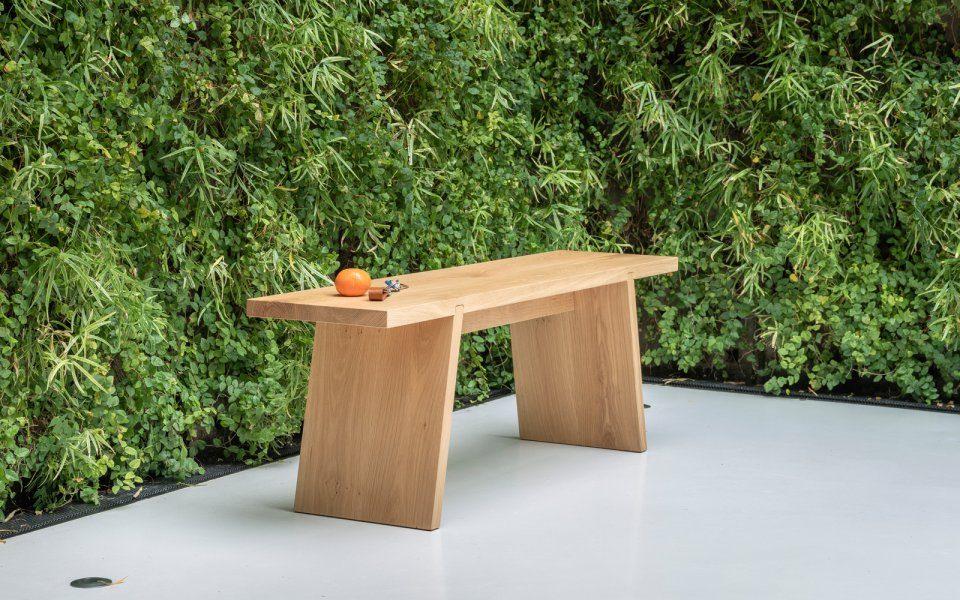 Functionals Dovetail Bench Wood Bank Dutch Design Modern Spa Bathroom Beautiful Garden