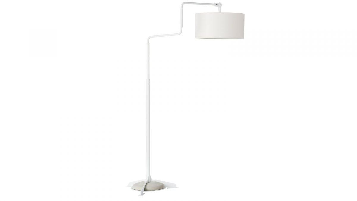 Functionals Swivel Vloerlamp Wit Wit