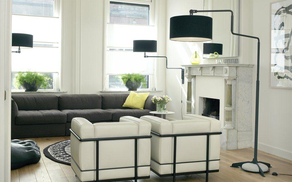 Functionals Swivel Vloerlamp Zwart Zwart Design Projectlamp Gimmii Verstelbaar Uniek