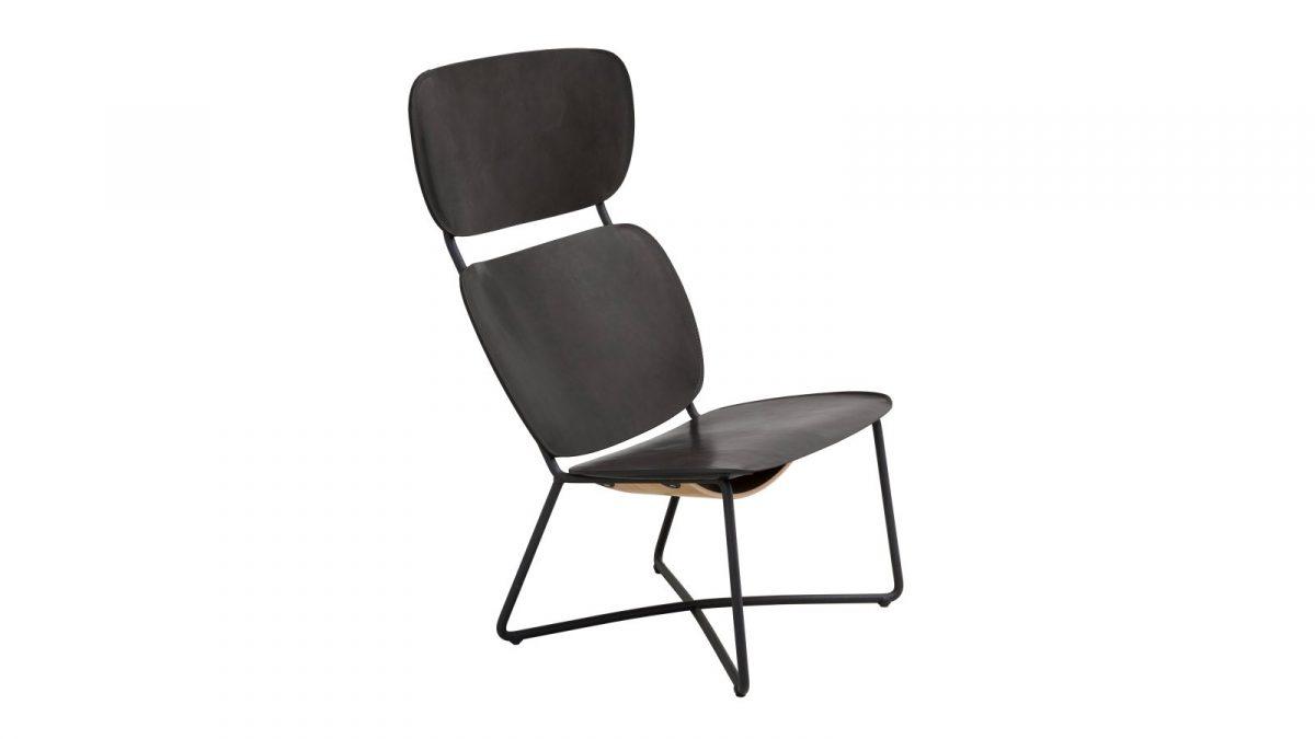 Functionals Miller High Dutch Design Stoel Natural Zwart Lounge Luxe