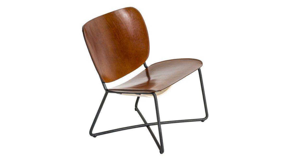 Functionals Miller Lounge Stoel Cognac Dutch Design