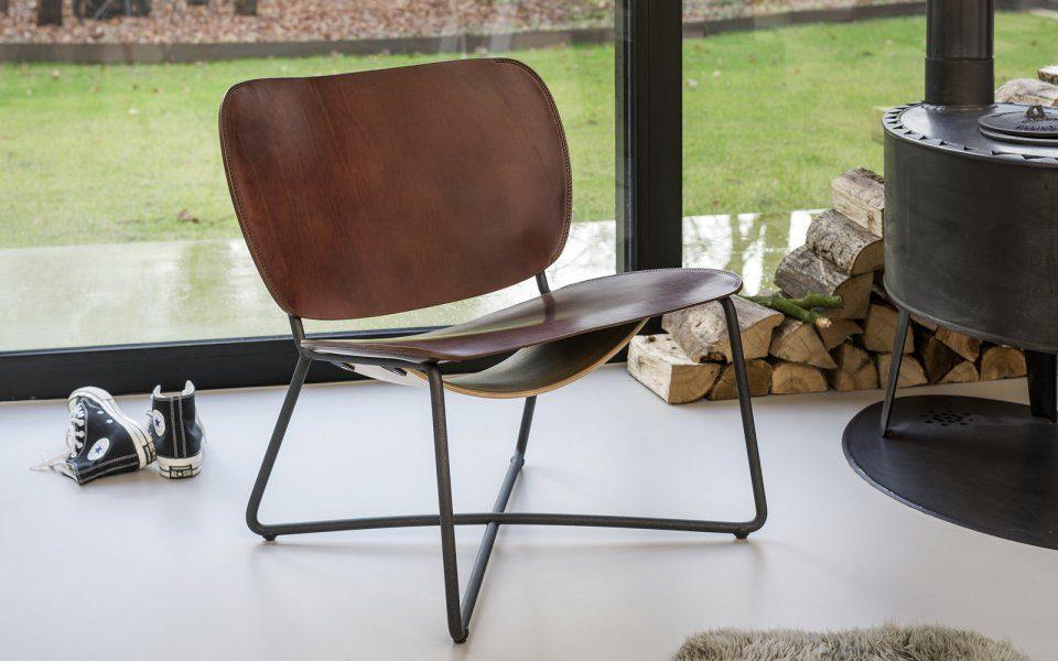 Functionals Miller Lounge Stoel Cognac Dutch Design Stevig