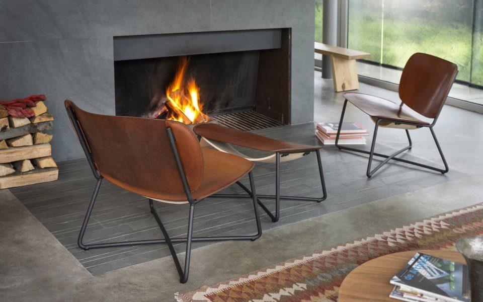 Functionals Miller Ottoman Zwart Leer Voetenbank Design Chair Kruk