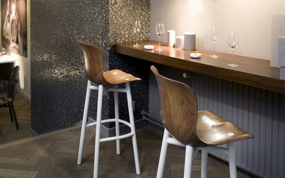 Functionals Wendela Barstool White Design High Barkruk Restaurant