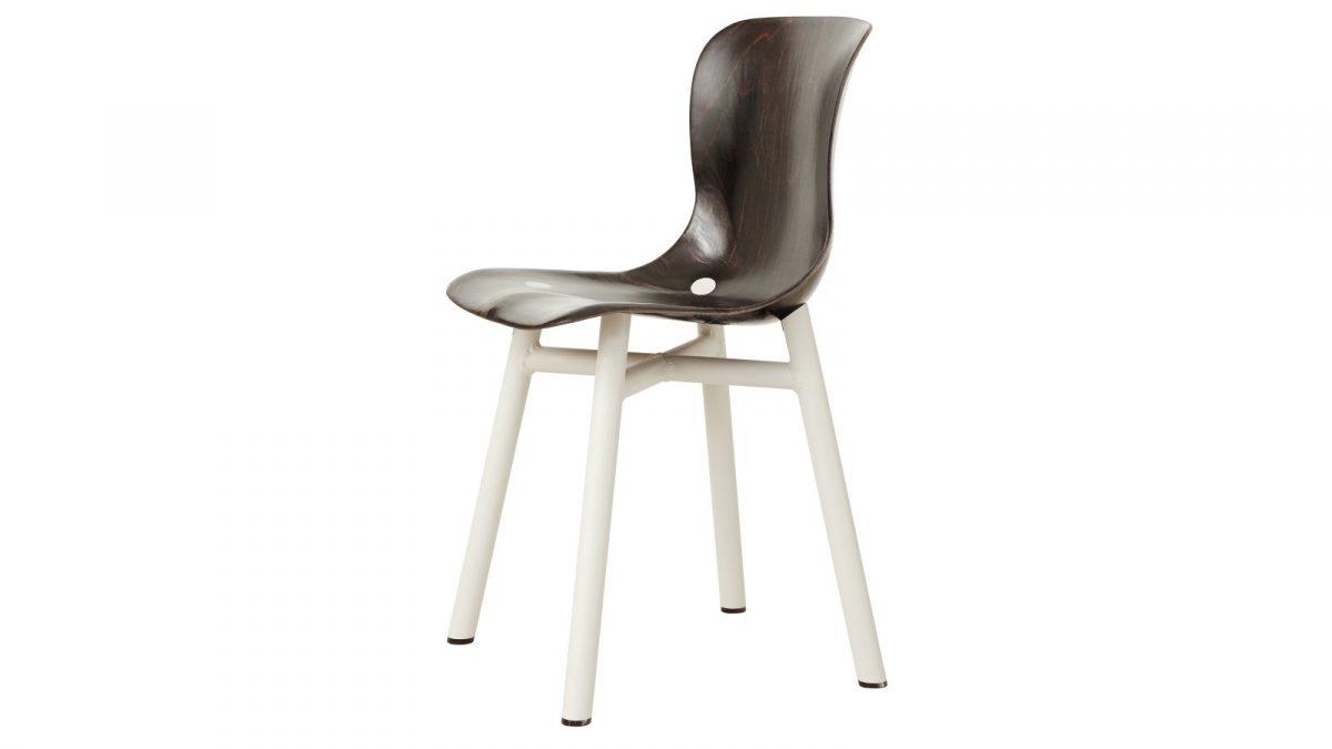 Functionals Wendela Chair Eetstoel Design White Dark Eetstoel