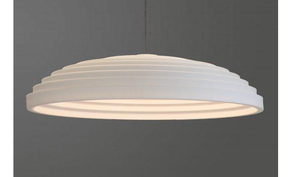 Oval akoestische hanglamp