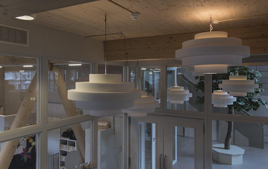 Retro Akoestische Designer Hanglamp KNAP Ontwerp Geluidsdempend