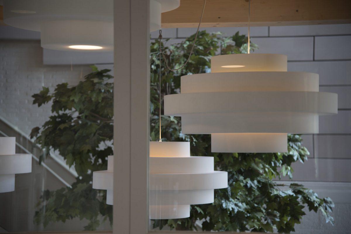 Retro Akoestische Designer Hanglamp KNAP Ontwerp Geluidsdempend Combinatie