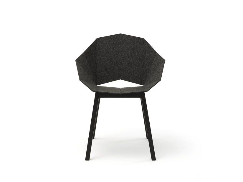 SEATSHELL Roijé Vilt Armchair Donkergrijs Design Armstoel