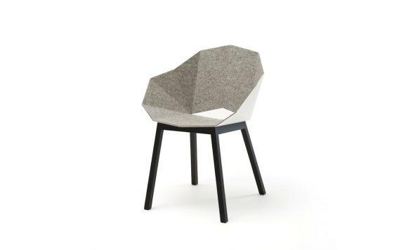 Seatshell armstoel vilt