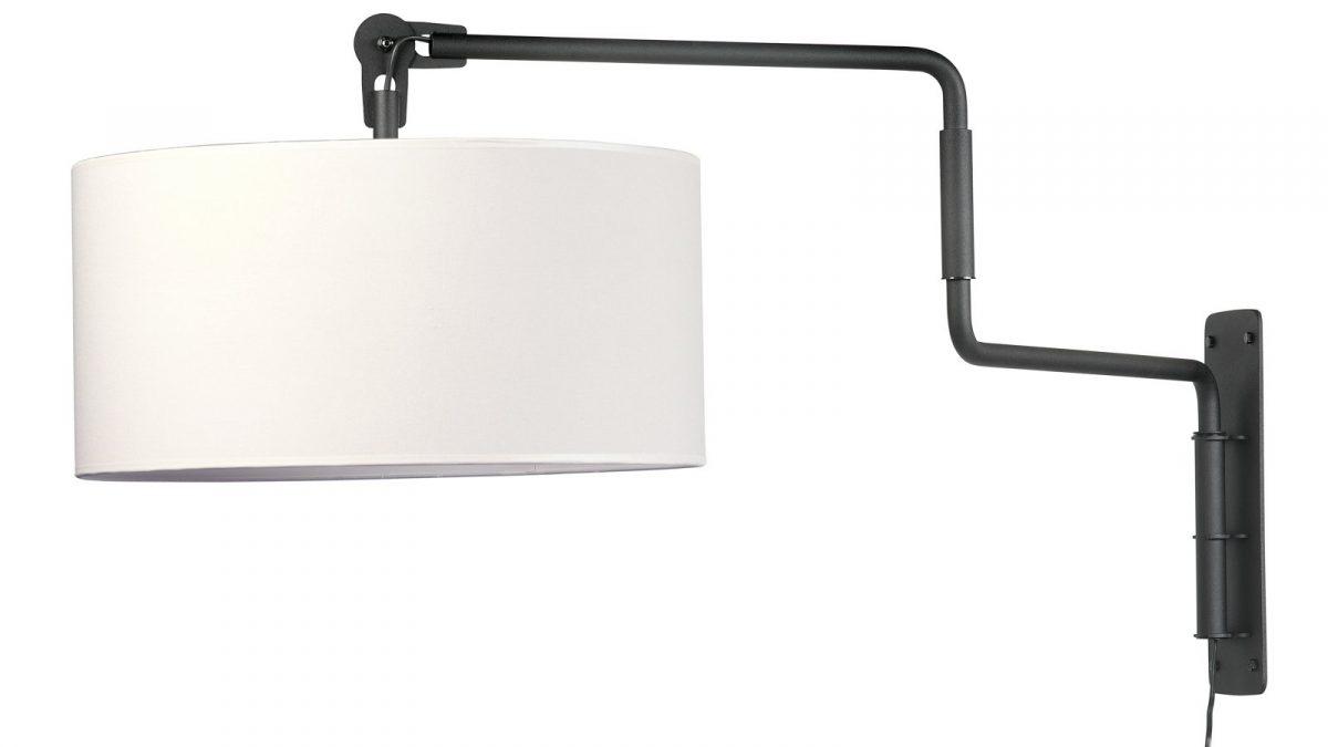 Swivel Wall Lamp Functionals Zwart Wit Design