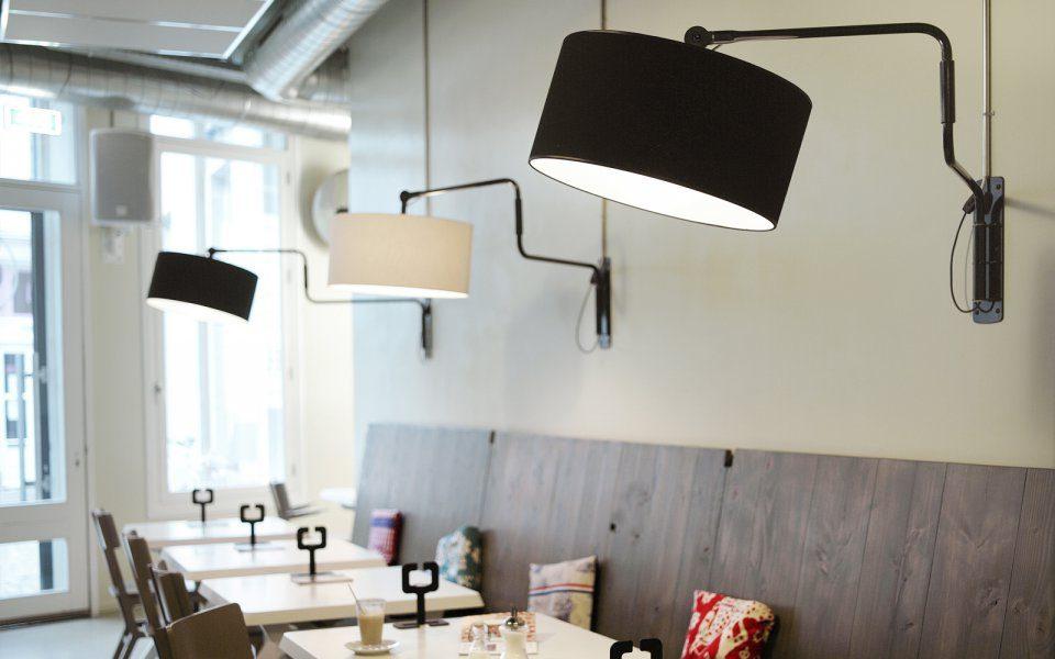 Swivel Wall Lamp Functionals Zwart Wit Design Gimmmii Restaurant