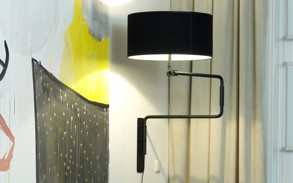 Swivel Wall Lamp Functionals Zwart Wit Design Gimmmii Restaurant Atelier