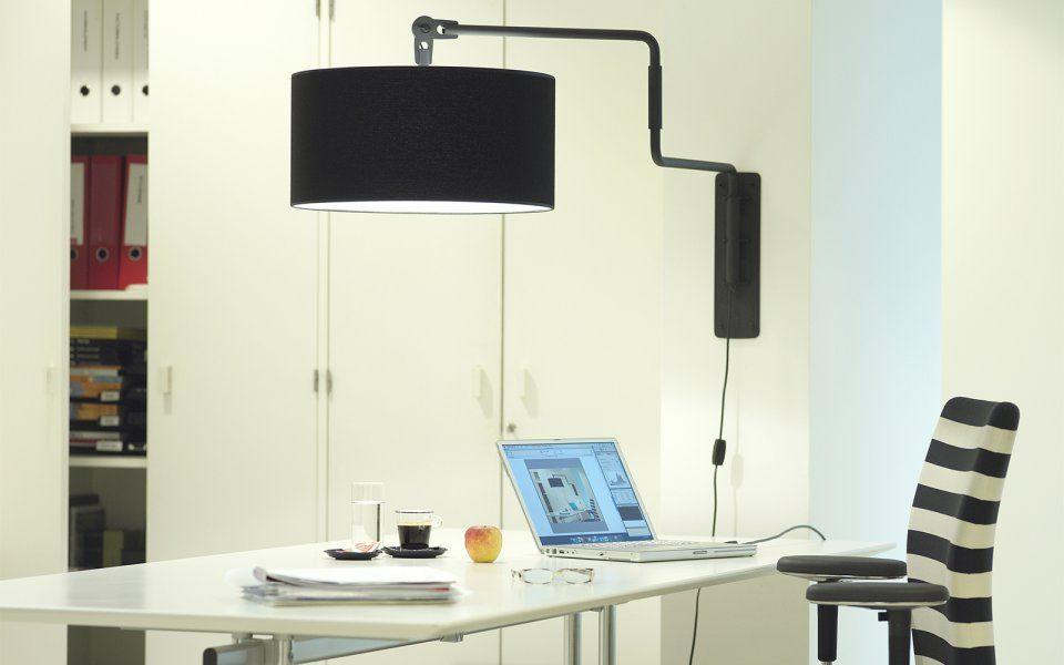 Swivel Wall Lamp Functionals Zwart Wit Design Gimmmii Restaurant Atelier Bureau