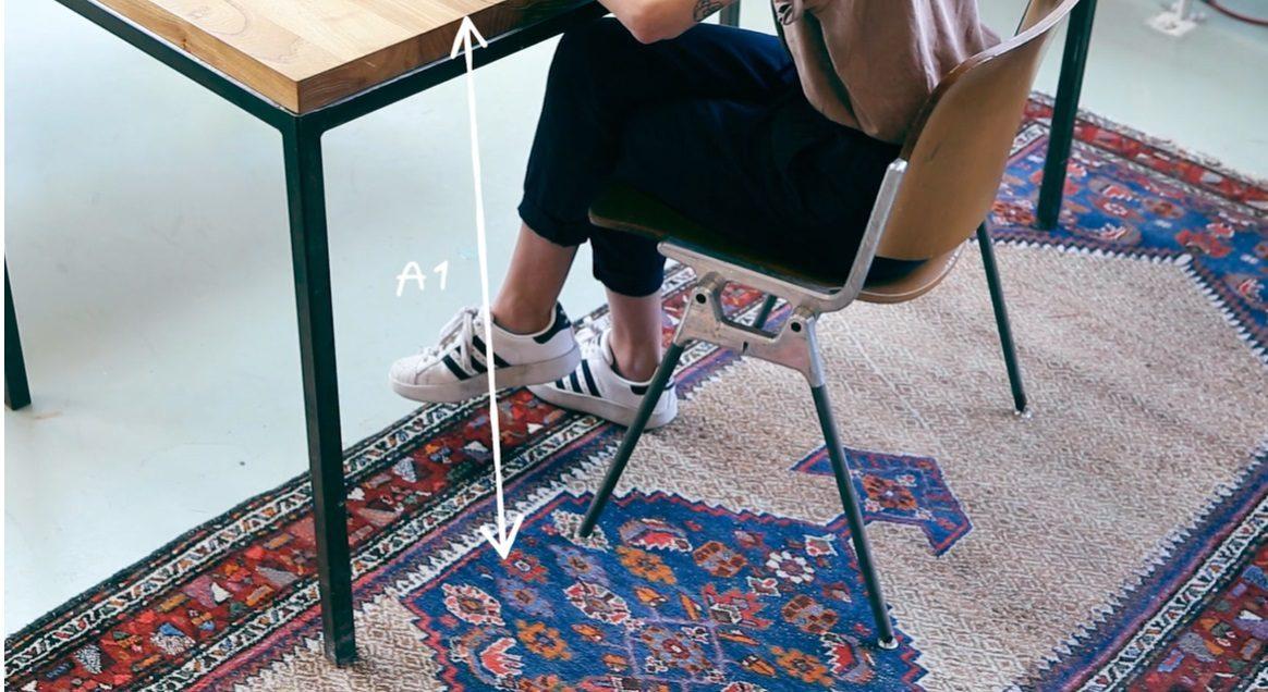 Waarmakers Ingrid Thuiswerkmeubel Bijzettafel Kruk Design Dutch Comfortabel Zit Sta Ergonomisch Bureau Afmetingen A1