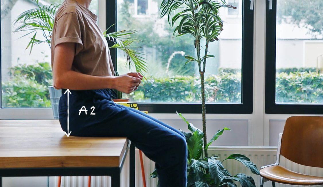Waarmakers Ingrid Thuiswerkmeubel Bijzettafel Kruk Design Dutch Comfortabel Zit Sta Ergonomisch Bureau Afmetingen A2