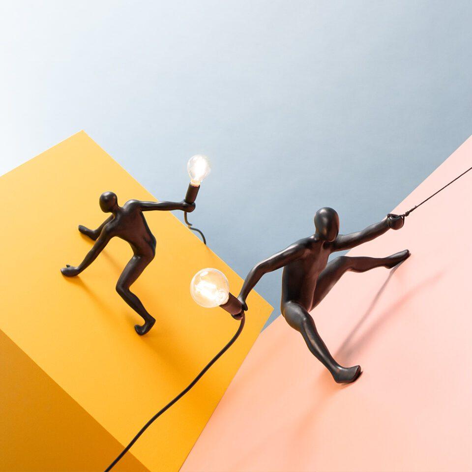 Werkwaardig Climber Lamp Creatief Design Zwart