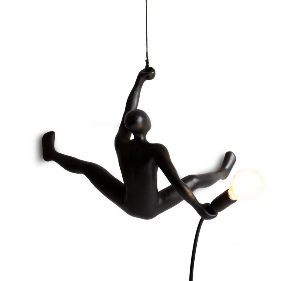 Werkwaardig Climber Lamp Creatief Design Zwart Duurzaam