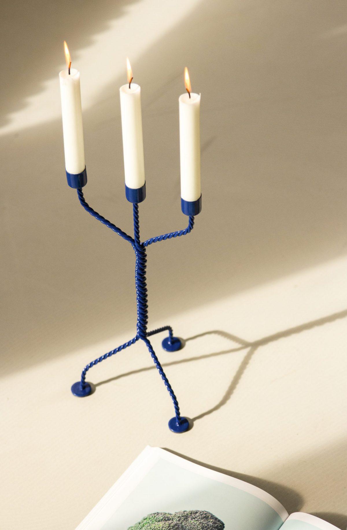 Werkwaardig Twisted Candleholder Dutch Design Modern Blauw Romantisch