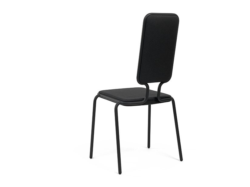 Height width chair donkergrijs Dutch Design