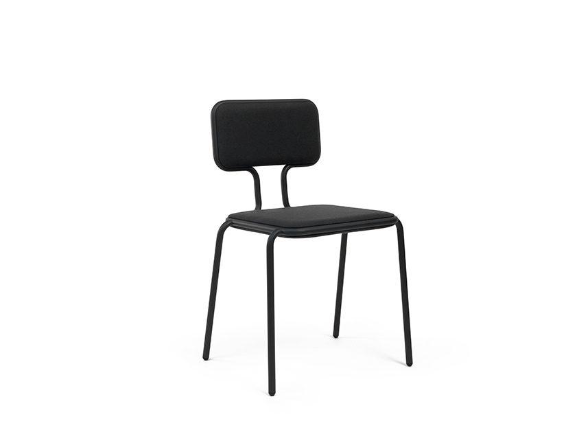 Height width chair donkergrijs Dutch Design Horizontal