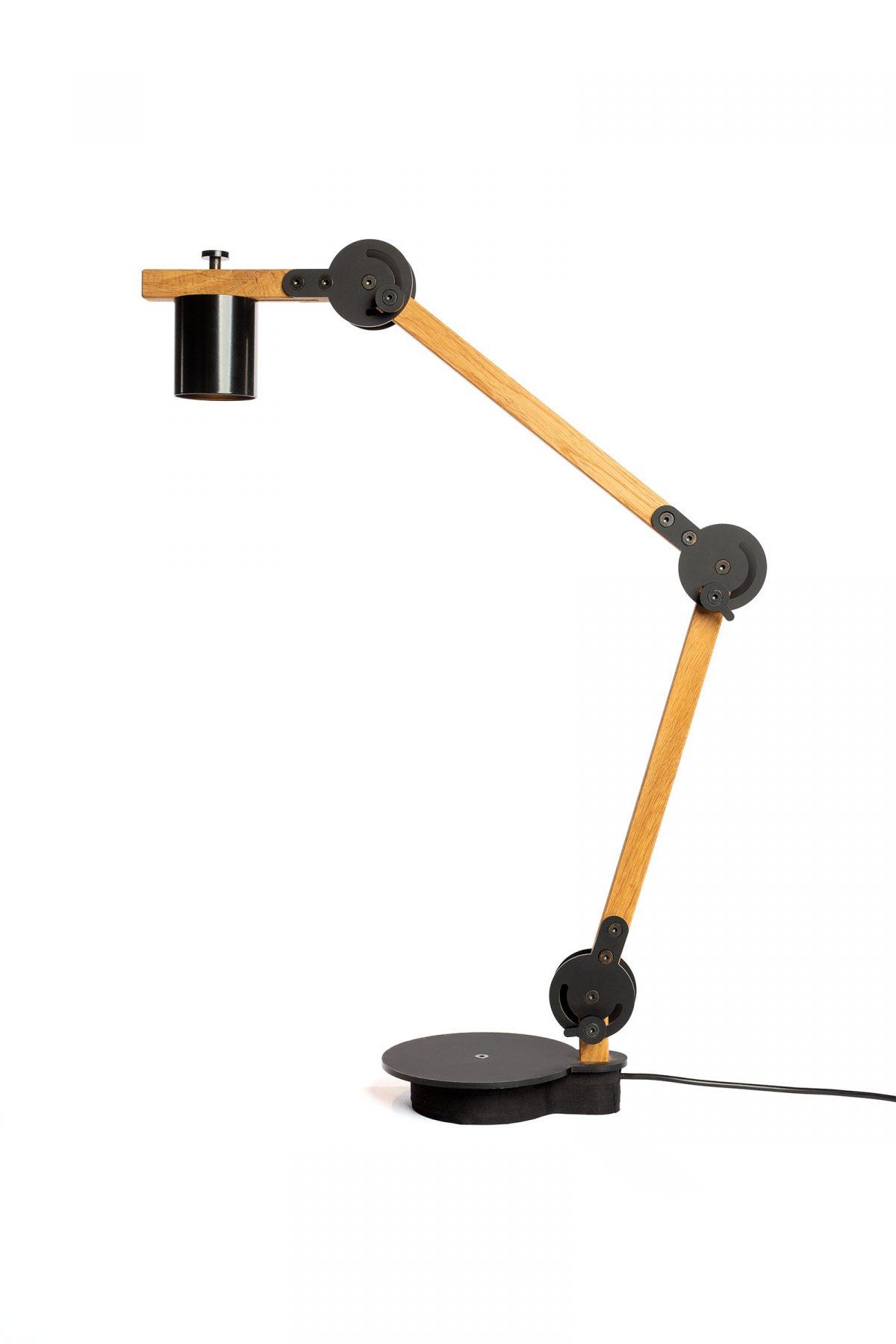 Circle Spot Table Lamp Double Arend Groosman Design Flexibel Bureaulamp Modern Eikenhout