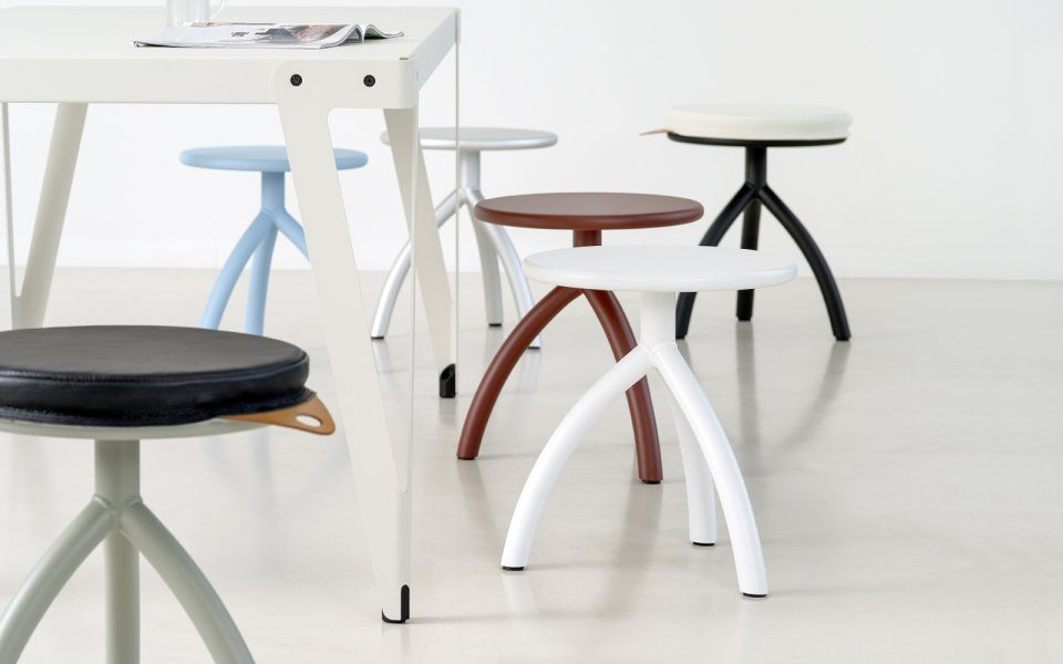 Functionals Stool Silver Dutch Design Minimal