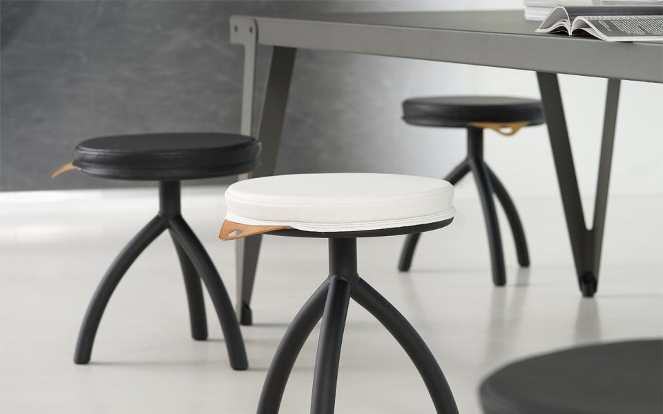 Functionals Stool Silver Dutch Design Minimal Luxe