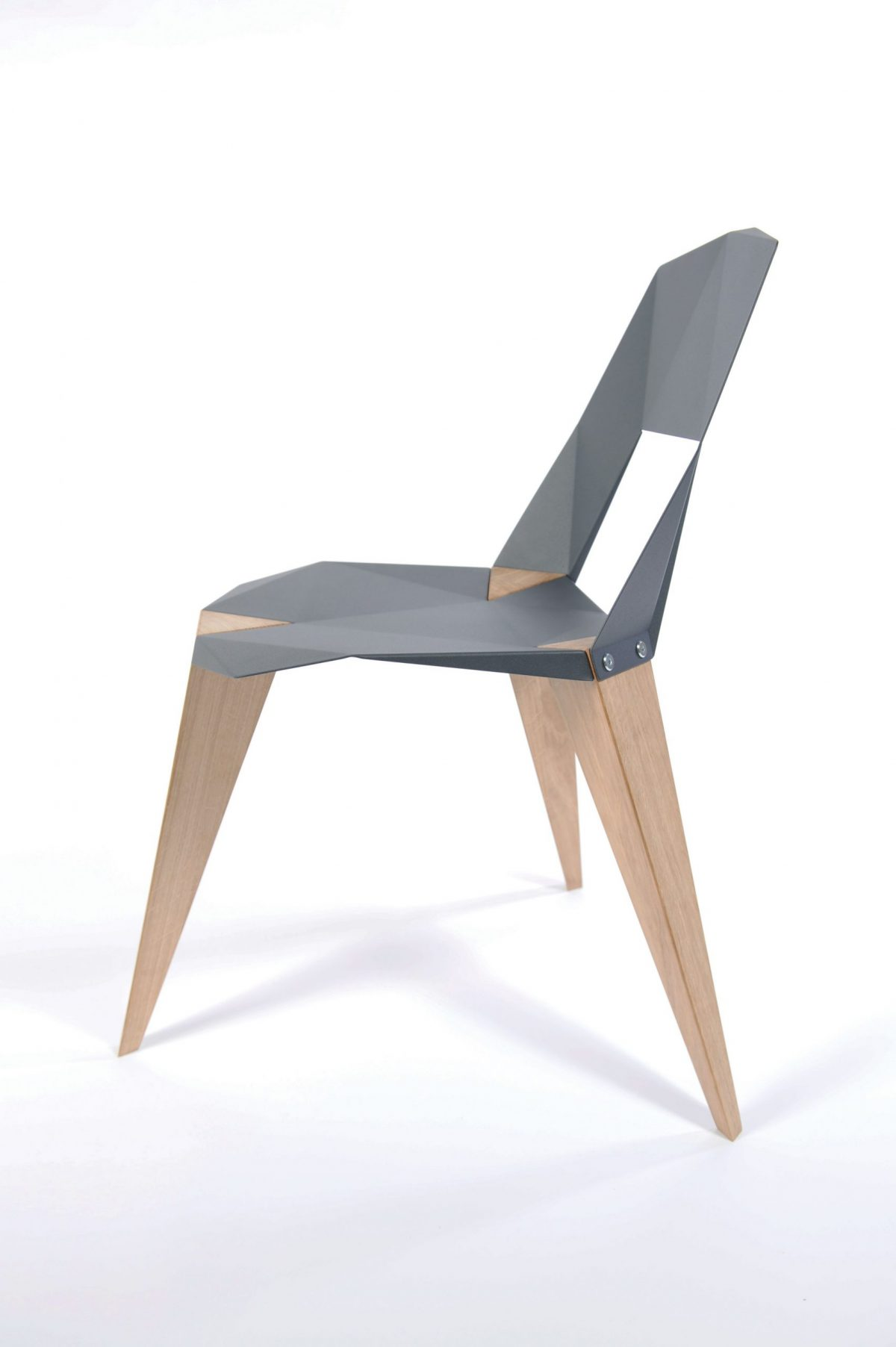 Pythagoras Stoel Antraciet Grijs Sander Mulder Design