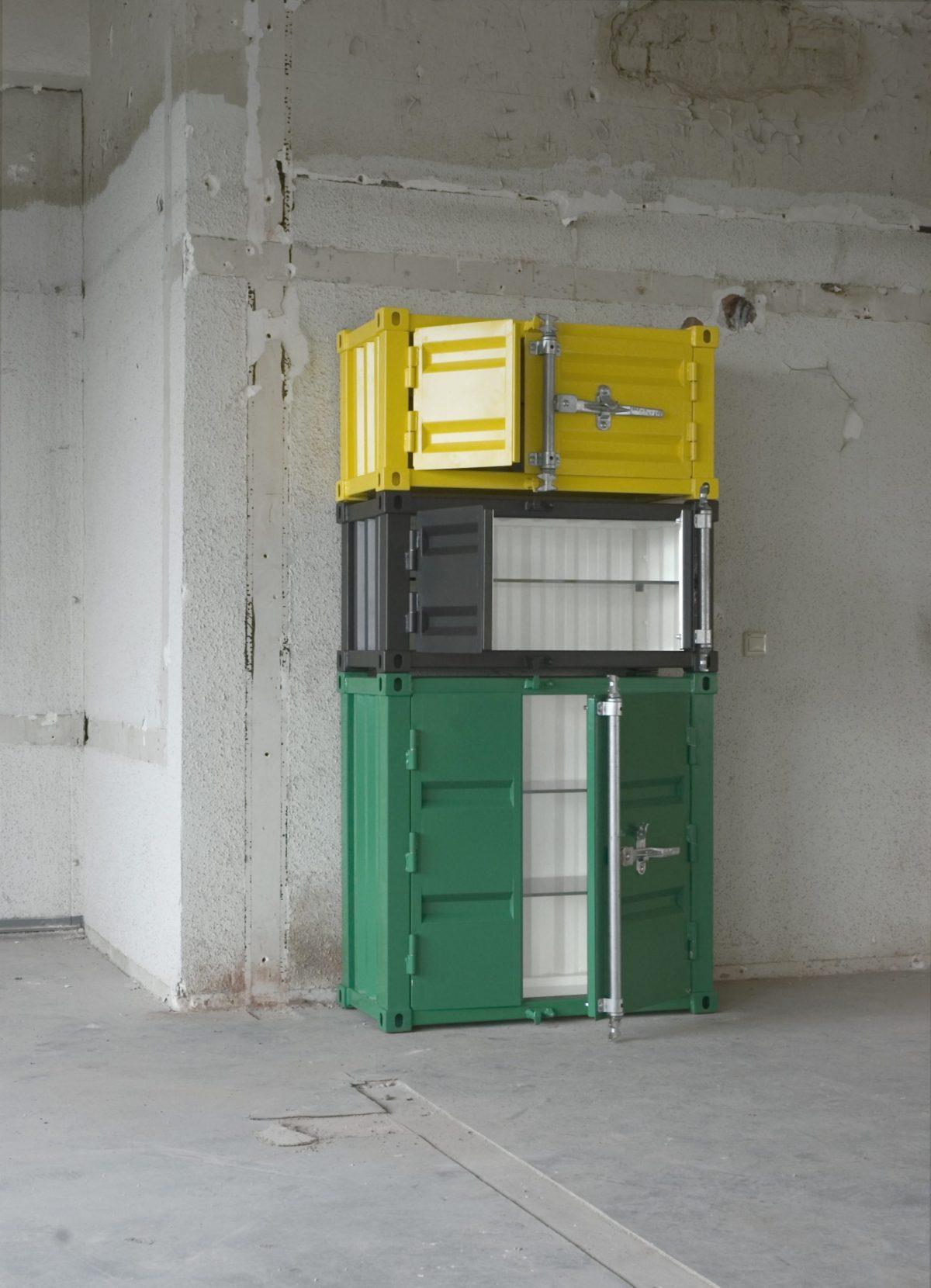 Sander Mulder Pandora Kast Cabinet Green Black Yellow