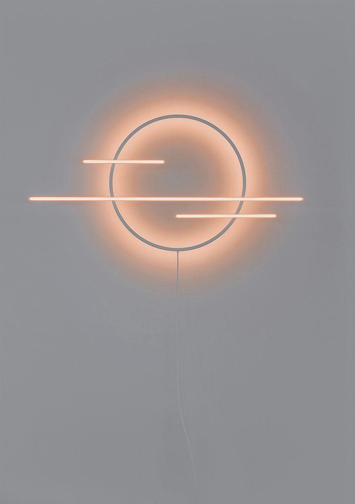 Mist Lamp Wandlamp Oranje Ontwerpduo Dutch Design