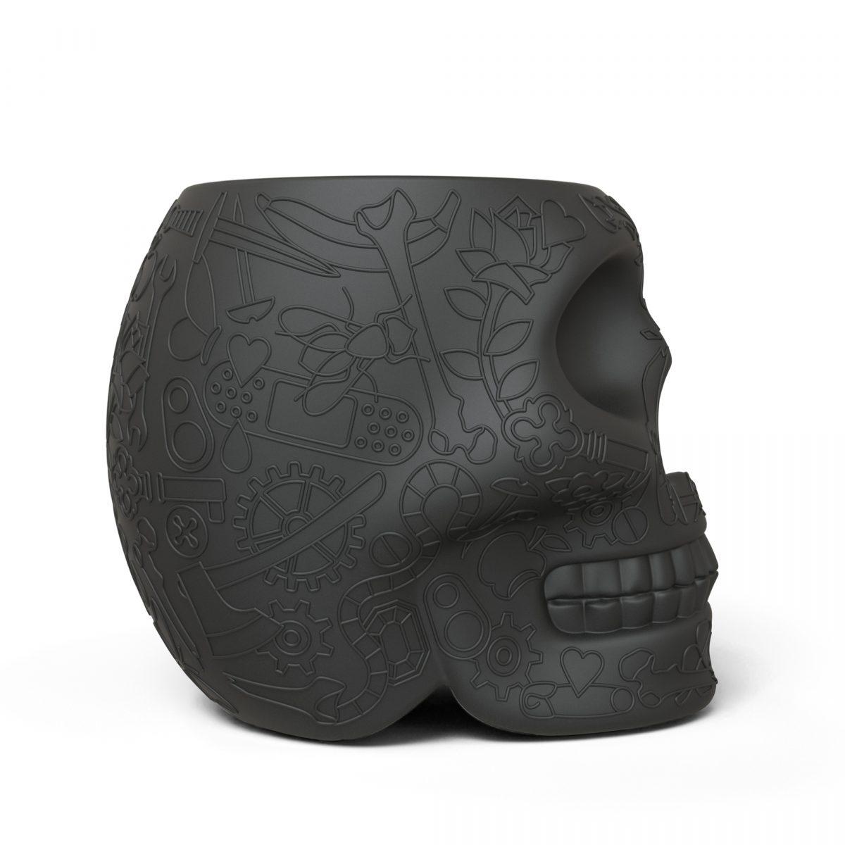 Qeeboo Mexico Krukje Bijzettafel Buiten Binnen Zwart Design