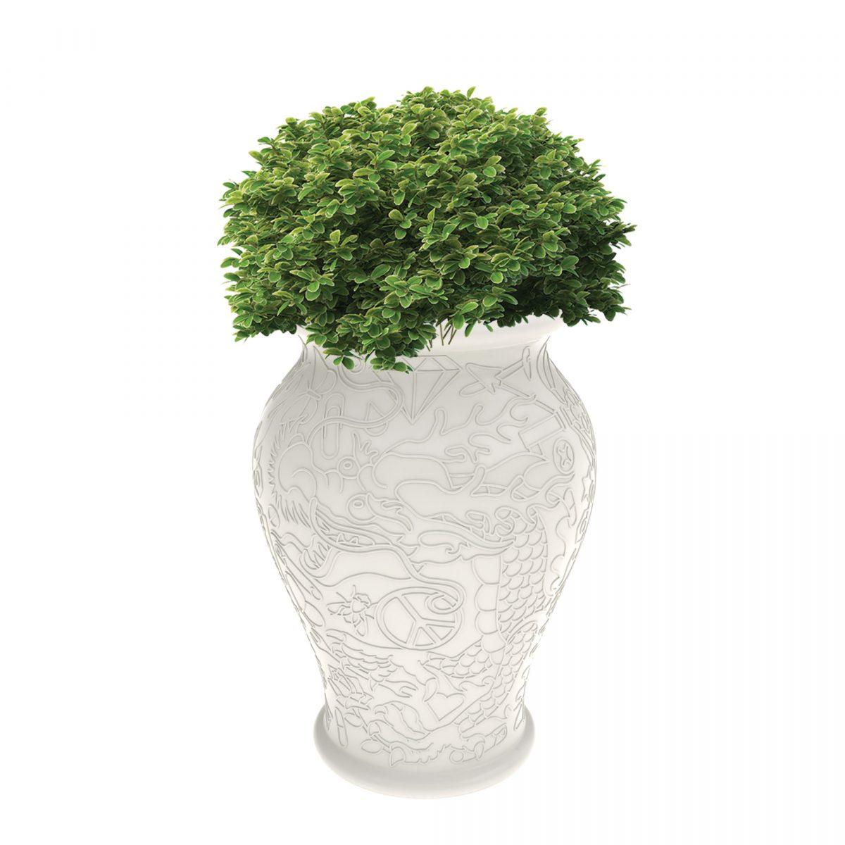 Qeeboo Ming Decoratie Vase Dutch Design Vaas Plantenbak Wit