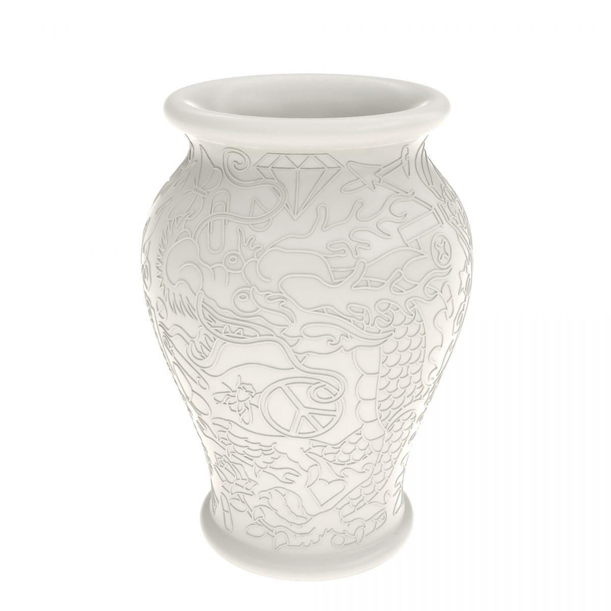 Qeeboo Ming Vase Dutch Design Vaas Wit