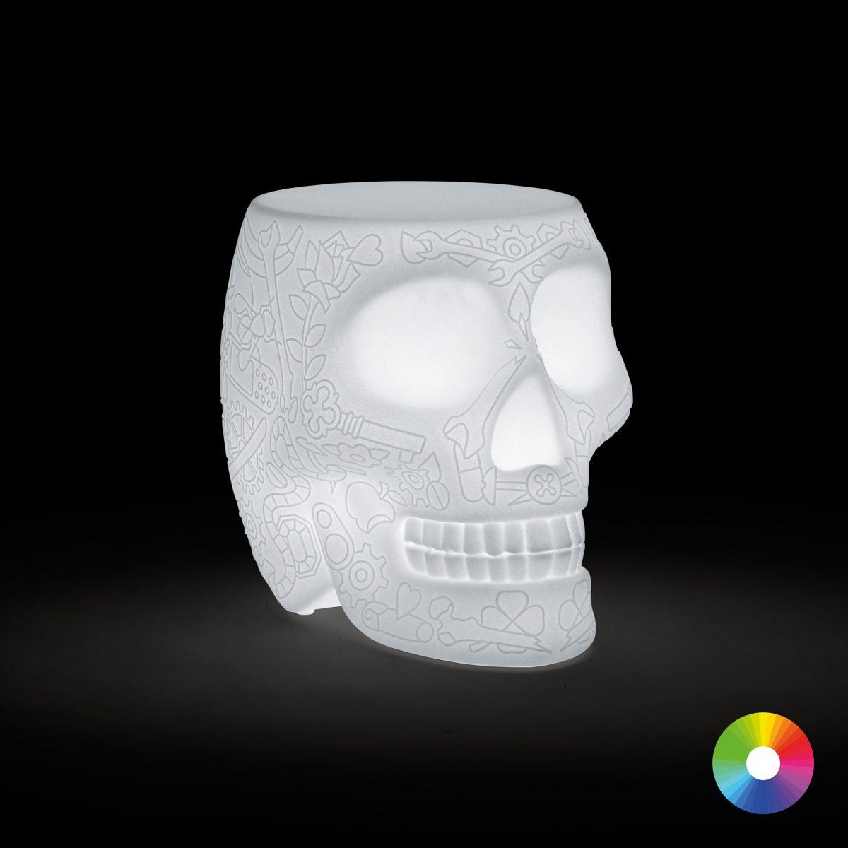 Qeeboo Oplaadbaar Mexico Stoel Bijzettafel Dutch Design Studio Job LED Verlichting