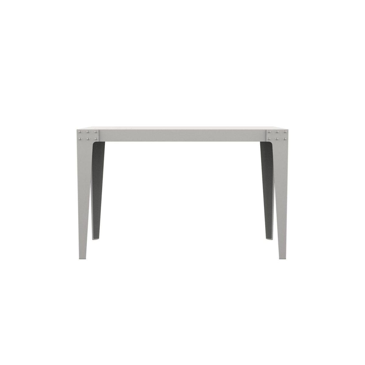 PHA1206 Lensvelt Bureau Wit Tafel Aluminium Thuiswerken