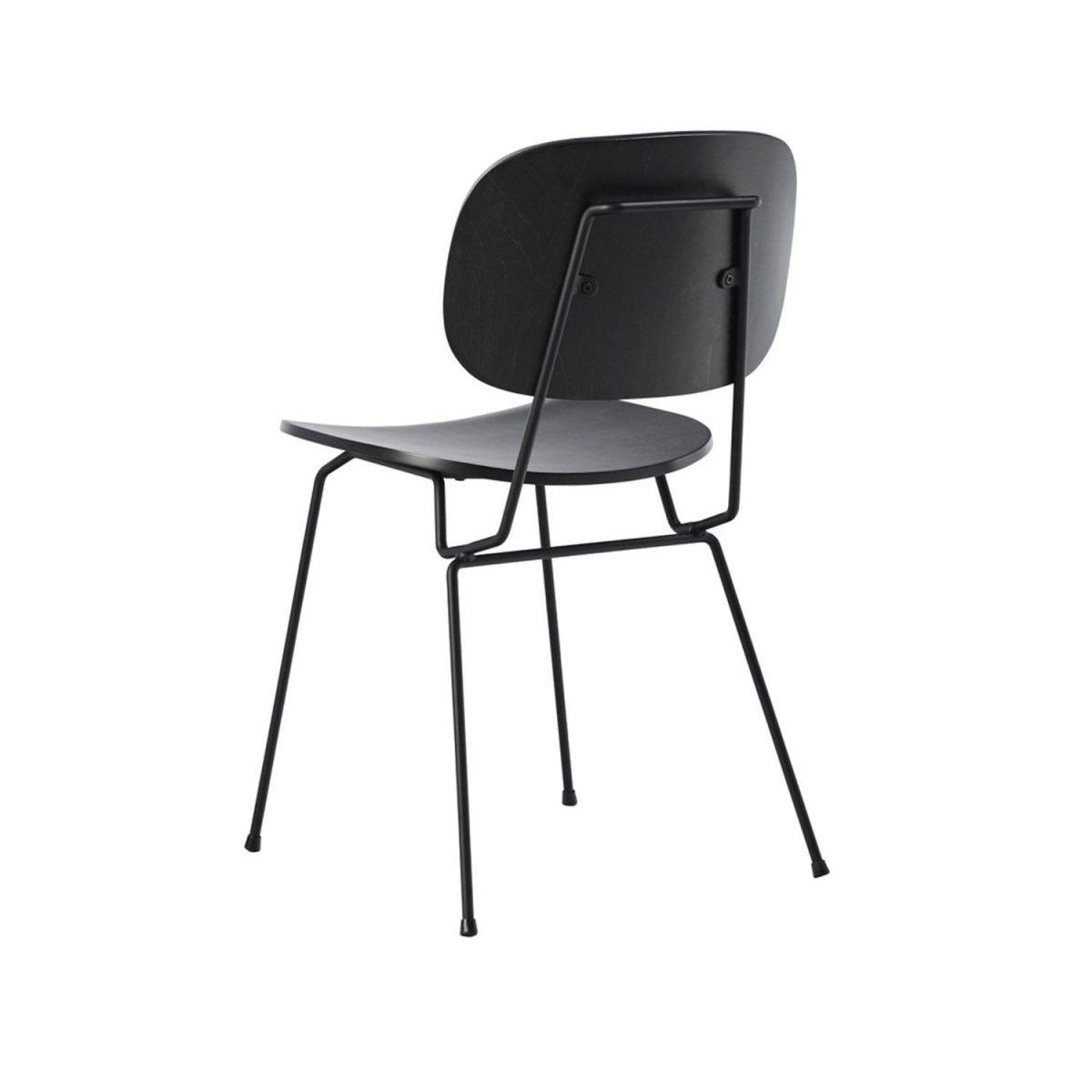 D Chair Lensvelt Hout Zwart Eetkamerstoel Project Restaurant Modern