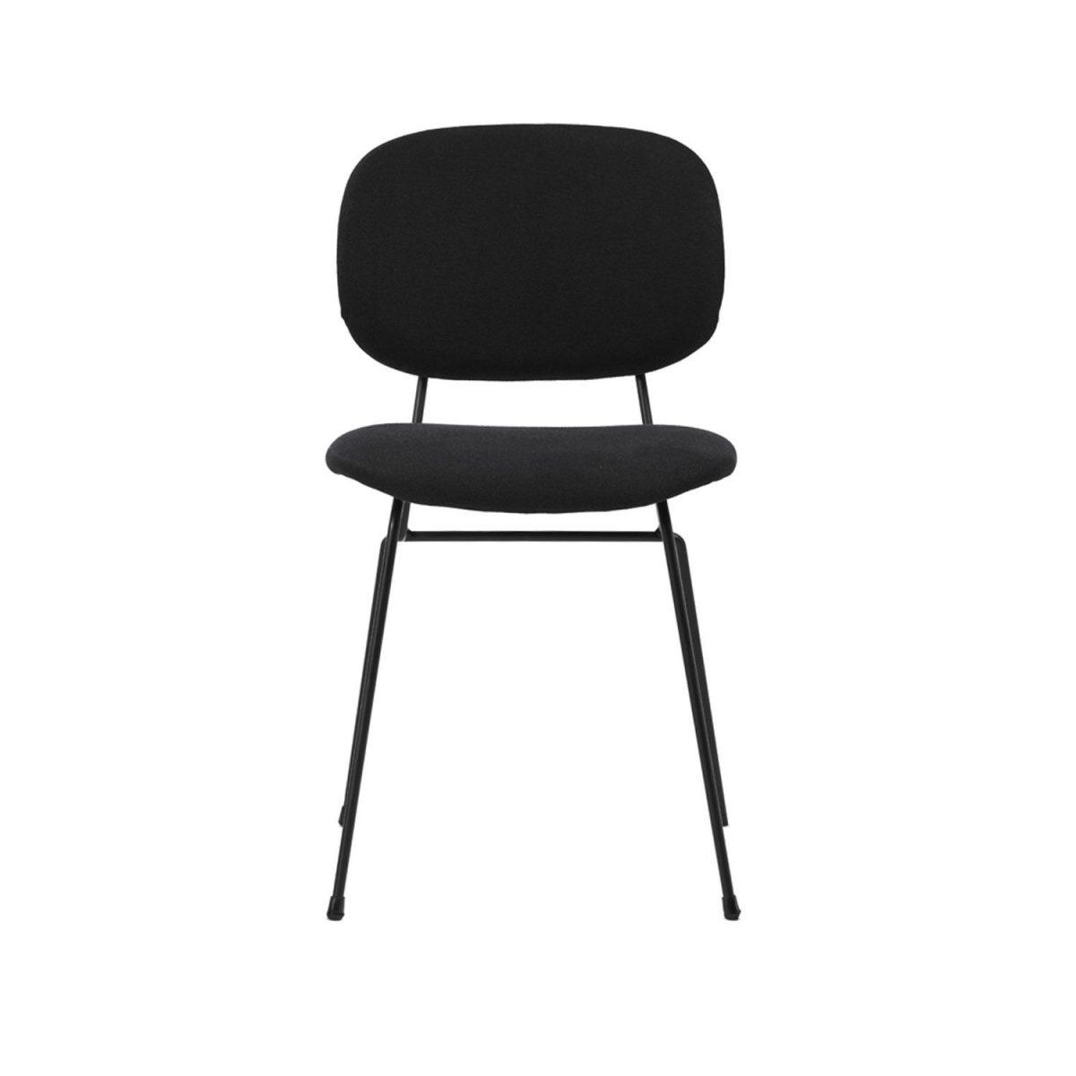 D Chair Lensvelt Gestoffeerd Stoel Eetkamerstoel Zwart