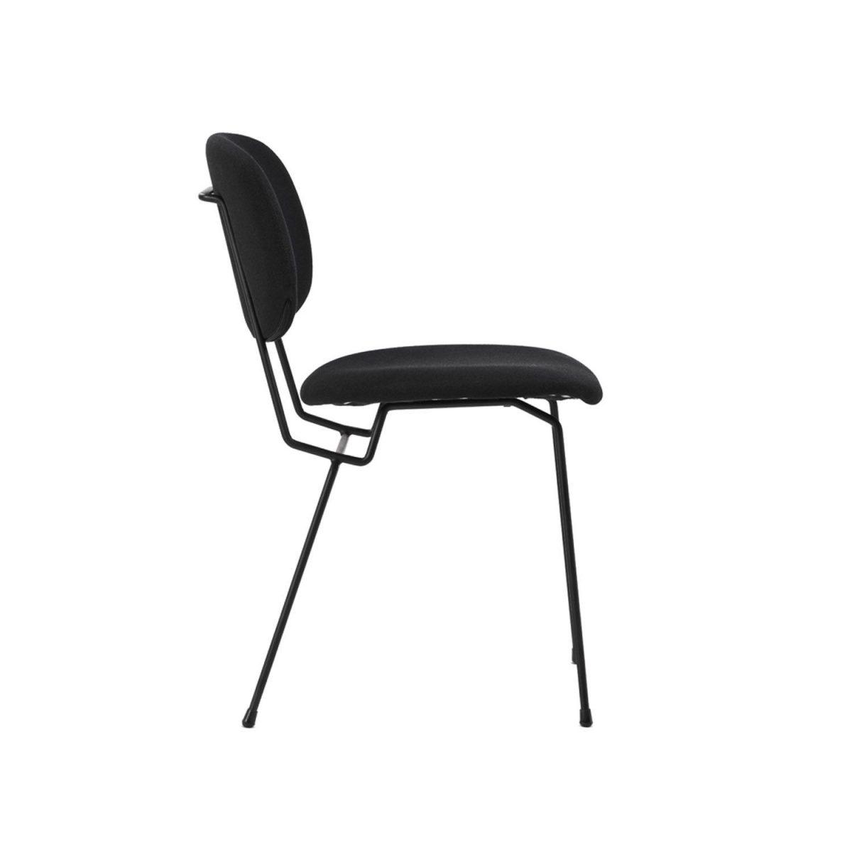 D Chair Lensvelt Gestoffeerd Stoel Eetkamerstoel Zwart Projectstoel Bureaustoel