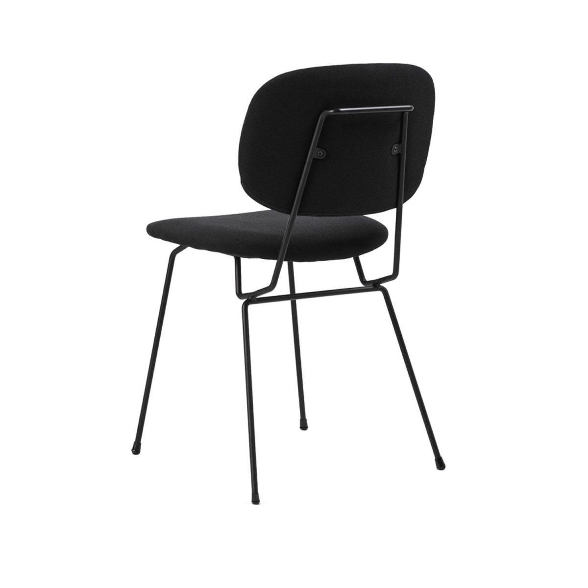 D Chair Lensvelt Gestoffeerd Stoel Eetkamerstoel Zwart Projectstoel Bureaustoel Minimalistisch Dutch Design
